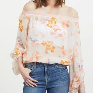 7 for all Mankind silk floral blouse